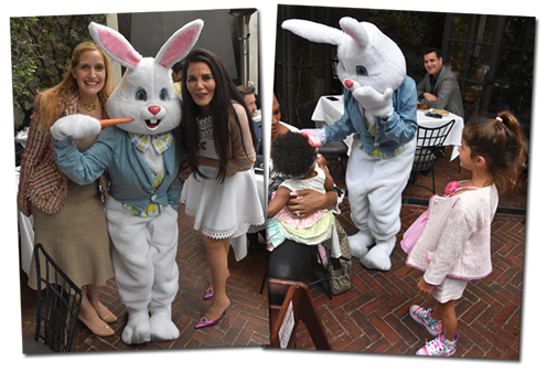 The Easter Bunny at Spago's Easter lunc