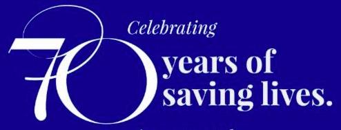 70 years of saving lives