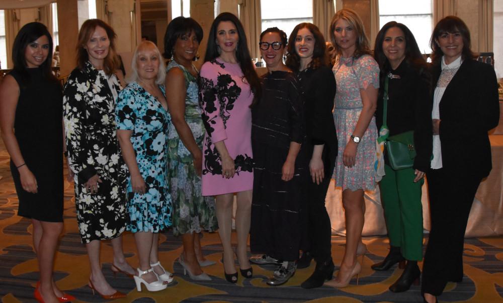 "Barbara Lazaroff et al at Friends of Sheba Medical Center Women of Achievement Luncheon 2018"""
