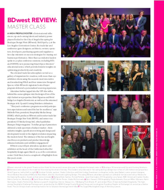 Boutique Design magazine: BDWest Review, June_2018