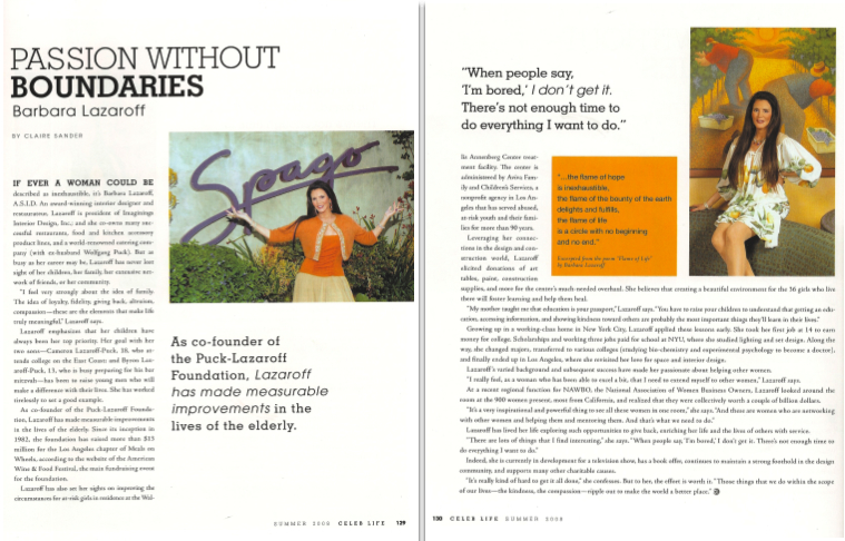 CelebLife Passion Without Boundaries article