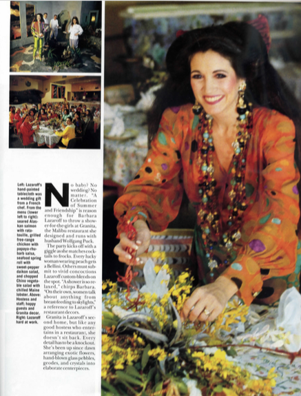 ELLE Decor featuring Barbara Lazaroff, 1992