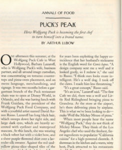 New Yorker magazine article, Puck's Peak, 1997