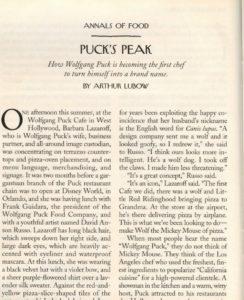 New Yorker magazine article, Puck's Peak, 1997