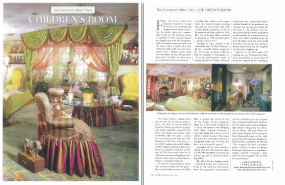 Rob Report for the luxury lifestyle, magazine article featuring Barbara Lazaroff