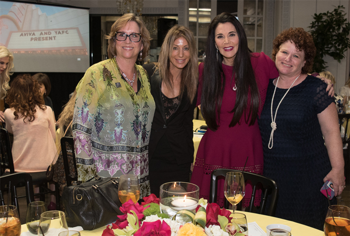 Barbara Lazaroff at the Aviva luncheon she hosted at Spago