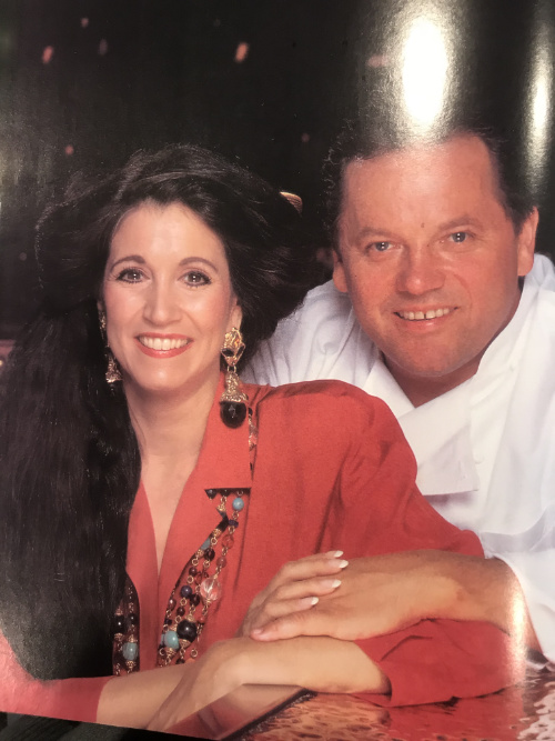 Barbara Lazaroff and Wolfgang Puck's photo in The Lifestyles of the Rich and Famous Cookbook