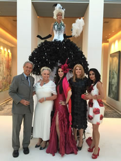 Barbara Lazaroff and friends at The Bel Air Affaire 2015: Music Beneath the Stars in support of scholarships for Hebrew University students