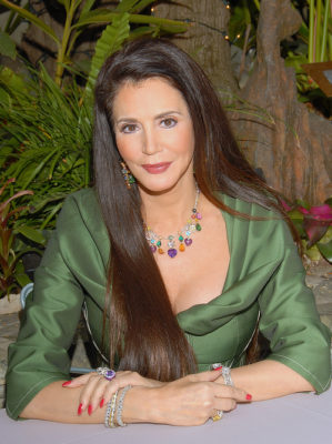 Barbara Lazaroff in her green dress