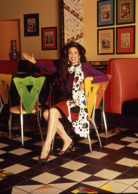 Barbara-Lazaroff-in-one-of-her-Wolfgang-Puck-Cafe-Pizza-Chairs