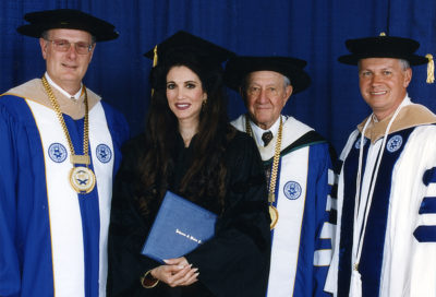Barbara Lazaroff receives Honorary Doctorate from Johnson & Wales University, May 23,1998