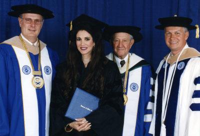 Barbara Lazaroff receives Honorary Doctorate from Johnson & Wales University, May 23,1998